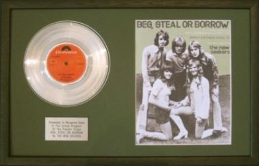 NEW SEEKERS-Platinum Disc&SongSheet-BEG STEAL OR BOR